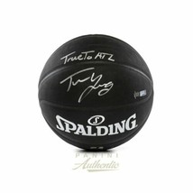 """Trae Young Signed Black Spalding Replica Basketball with """"True To ATL"""" Insc LE t - $316.80"""
