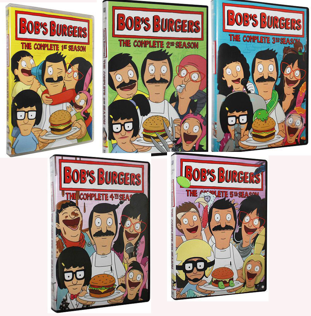 Bob's Burgers Complete Seasons 1-5 1.2.3.4.5 Box Set 13 Disc Free Shipping New