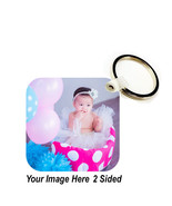 CUSTOM IMAGE Key Chain Ring YOUR PHOTO, DESIGN, LOGO TEXT VERY NICE GIFT... - $9.79+