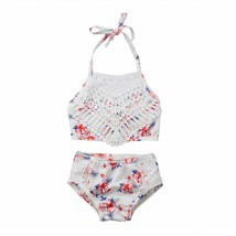 2Pcs Toddler Baby Girl Lace Swimwear Bathing Suit Bikini Outfits Swimsui... - $9.79+