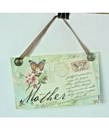 Demdaco Postcards From Heaven Plaque ~ Sign MOTHER - $10.36
