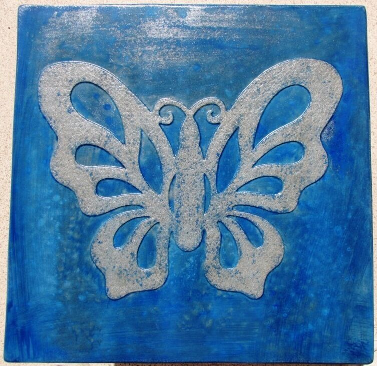 "Butterfly Stepping Stone Concrete Mold 18x18x2"" Make for $3 Each Ships Fast Free"