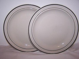 Lot of 2 Gibson Plates  Housewares Dishwasher Microwave Safe China White... - $14.80