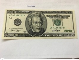 United States $20.00 uncirc. banknote 1996 #2 - $39.95