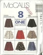 McCall's Sewing Pattern 7841 Girls Skirt Size 4 5 6 New Uncut - $6.99
