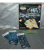 Klutz Star Wars Folded Flyers Paper Airplane Craft Starfighters Book And... - $24.74