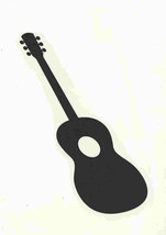 black acoustic guitar decal ideal cars, trucks, home, studio,shop etc easytoappl