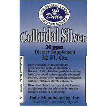 Daily Manufacturing - Colloidal Silver - 20 ppm - 32 oz  - $17.00
