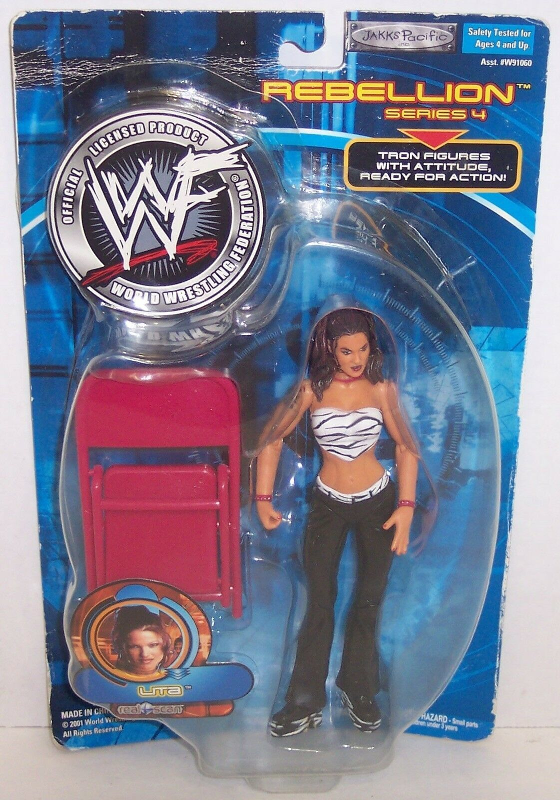 "Primary image for New! 2001 Jakk's Pacific Rebellion Series #4 ""Lita"" Action Figure WWF WWE [854]"
