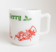 Tom and Jerry Milk Glass Punch Mug Cup by Hazel Atlas Vintage Holds 6.6 ... - $10.95