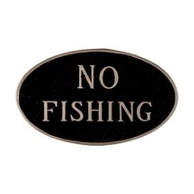 Montague Metal Products SP-26sm-BS No Fishing Oval Statement Plaque, Sma... - $15.39