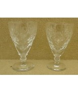 Pair of Etched Crystal Golblets (2-1/2 x 5 in.) - $29.58