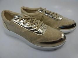 H2K Gold Glitter Size US 8 M (B) EU 39 Women's Fashion Sneakers Casual Shoes