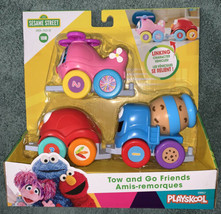 Tow & Go Friends Sesame Street Playset Helicopter Truck & Car Elmo Cookie Abby - $24.99