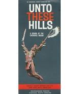 Vintage Travel Brochure Unto These Hills Cherokee North Carolina Outdoor... - $9.89