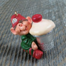 Vintage Thimble Elf Hallmark Keepsake Christmas Ornament 1983 6th in Series - $34.99