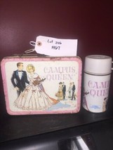 1967 Campus Queen Lunch Box Vintage Barbie With Thermos Lots rust Lot 246 - $93.49