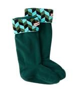HUNTER Boot Socks Adult WOMEN'S Boots Sock Size MEDIUM 5-7 Blue Geometri... - $32.85