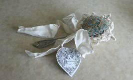 "VINTAGE SPOON/LACE/RIBBON Pin Cushion TABLESPOON 9"" NWT - $17.77"