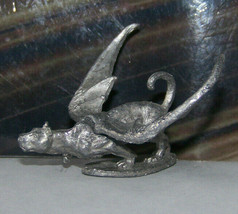 Rare Vintage Dungeons & Dragons Metal Miniature D&D Ral Partha Panther Cat Wings - $26.99