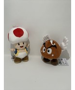 Boundle Little Buddy Mario All Star Collection Toad and Paragoomba Plush - $30.09
