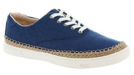 Women's UGG Australia EYAN II Lace Up Sneaker Canvas/ Jute Blue - $58.49