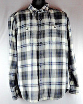 AE American Eagle Mens L Large Plaid Prep Fit Long Sleeve Top Button Down - $16.99