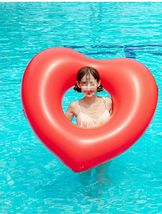 "Big Heart Inflatable Pool Raft Ride On Floats Swim Tube for Adults 47.2"" 120cm image 5"
