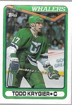 1990-91 TOPPS NHL-#260-Todd Krygier-Whalers-Center - $4.16