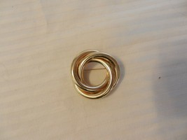 Vintage Gold Tone Round Loop Circle Pin, 3 Loops - $29.69