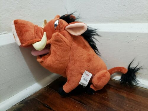 """Disney Store 12"""" Pumbaa Plush New with Tag"""