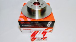 Factory New Brembo Rear Rotors & Genuine Toyota Rear Brake Pad Set Lexus RX300 - $164.95