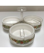 Gemco Le Serveur Spice of Life Condiment Server Lazy Susan g/w Corning C... - $38.99