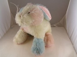 "Ganz Easter Bunny Rabbit in 3 colors, pink, blue, white shag fabric 8"" C... - $5.93"