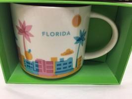 Starbucks Florida Coffee Mug You Are Here Palm Tree Stork New - $37.39