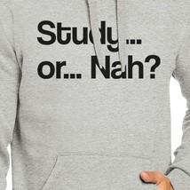 Study Or Nah Grey Hoodie image 2