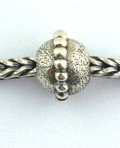 Authentic Trollbeads Planet Small Sterling Silver Charm 11145, New - $21.84