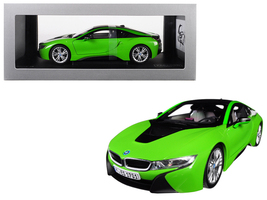 BMW i8 Java Green with Black Top 1/18 Diecast Model Car by Paragon - $161.00