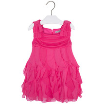 Mayoral Little Girls 2T-9 Fuchsia-Pink Cascade Ruffle Social Party Dress