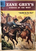 ZANE GREY'S STORIES OF THE WEST #34 (1957) Dell Comics VG+/FINE- - $9.89