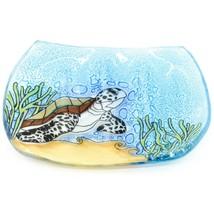 Fused Art Glass Sea Turtle Marine Ocean Design Soap Dish Handmade in Ecuador image 1