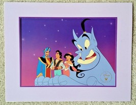 Disney's Aladdin and the King of Thieves 1996 Commemorative Lithograph - $7.92