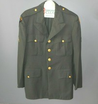 Vintage Us Army Airborne Military Green Dress Uniform Jacket Coat Cl EAN Usa - $73.87