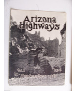 1925 SEPTEMBER ARIZONA HIGHWAYS MAGAZINE VALLEY GRAVEN IMAGES BORDERLAND... - $7,424.79