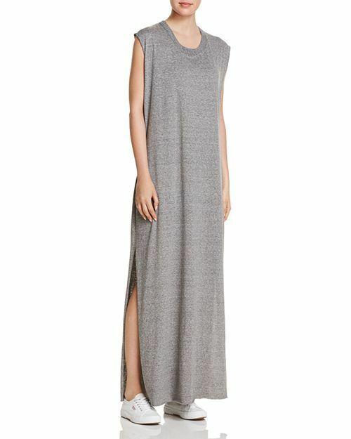 IRR 148$ Current Elliott T Shirt Dress The Delphi Maxi Tee Gray size *2
