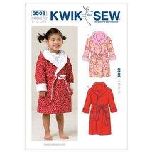 Kwik Sew K3509 Robes Sewing Pattern, Size T1-T2-T3-T4 - $15.68