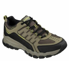 Skechers Shoes Men's Memory Foam Olive leather Sport Casual Comfort Trai... - $39.99