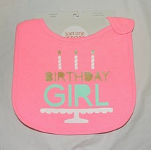 New Carters Baby My 1st Birthday Girl Bib First  Happy Birthday Pink - $6.92