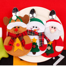 Christmas Ornaments Decorations For Home  Navidad Santa Claus Cutlery cover - $9.00
