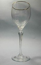 Signed Lenox Citation  wine glass Crystal gold Made in USA  plain Made i... - $20.43